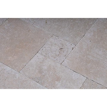 Carrelage sol int rieur pierre naturelle travertin antique beige leroy merlin - Livraison gratuite leroy merlin ...