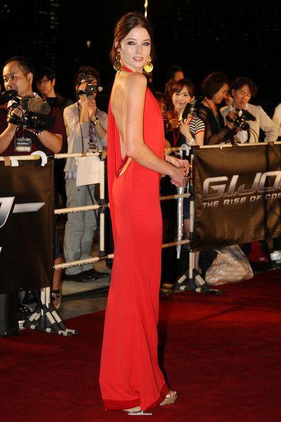 RACHEL NICHOLS orange dress - See best of PHOTOS of the actor http://www.wildsound.ca/rachelnichols.html