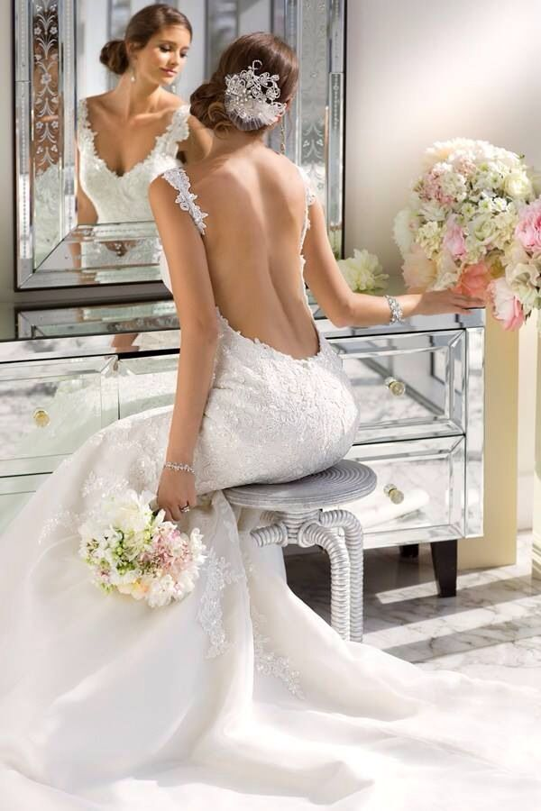I love this style #wedding dress
