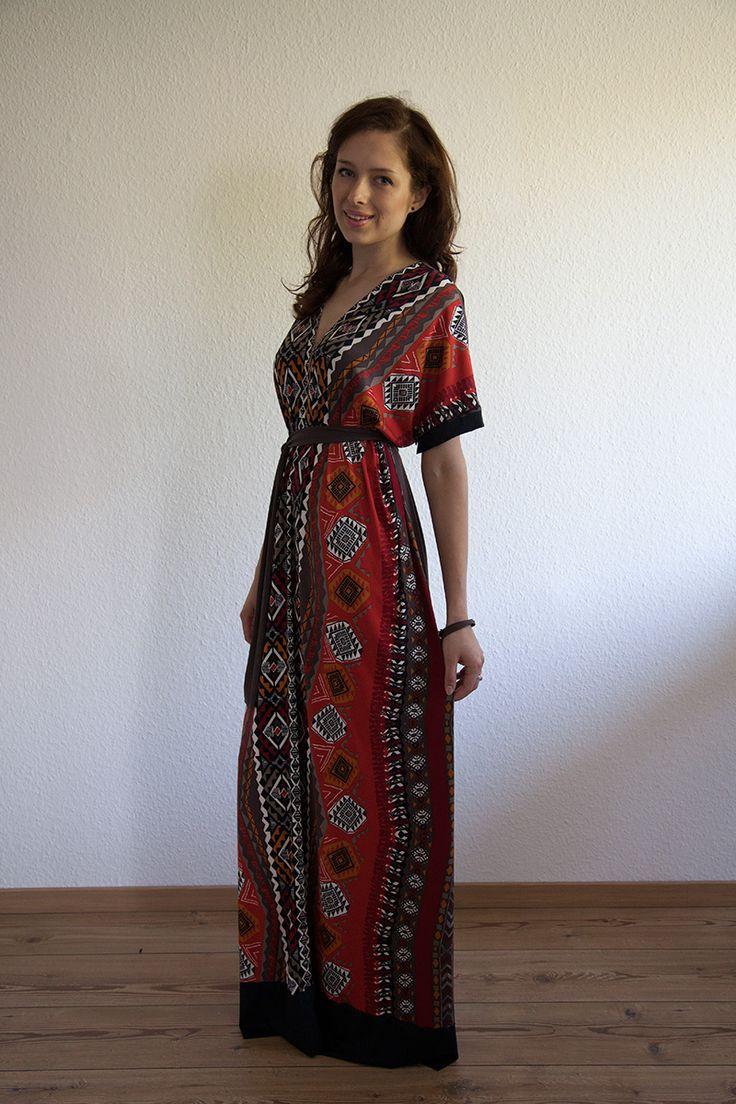 tolles kleid - anderer Stoff und farbe - gefällt von mri: Einfaches (Maxi-)Kleid nach Schemaschnitt