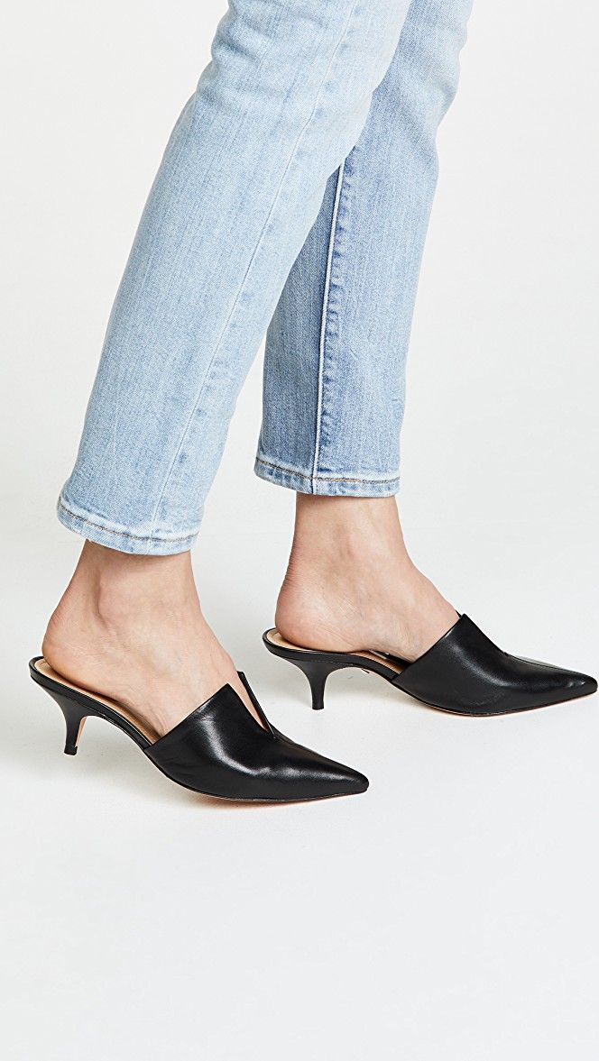 34866bf2c7f Ivna Kitten Heel Mules in 2019 | {Wants} | Heeled mules, Kitten heel ...