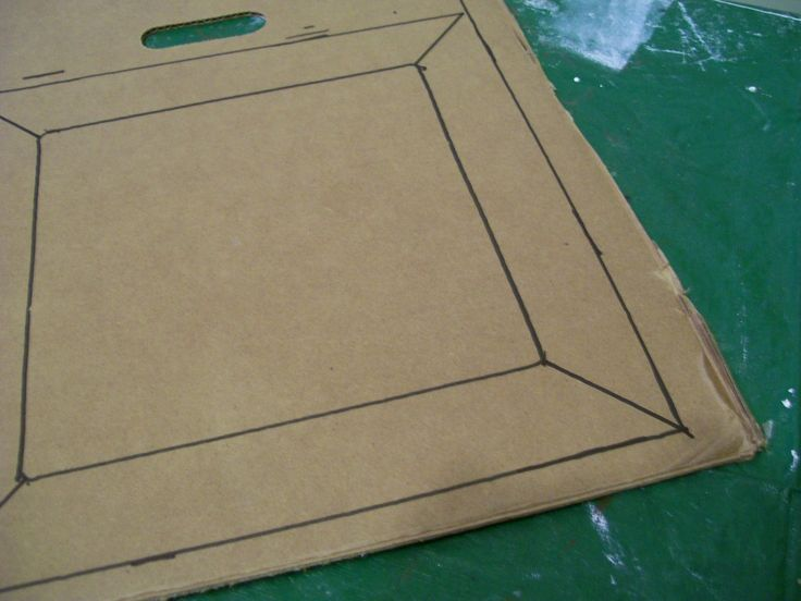 How to make a DIY Cardboard lid. Then decorate by covering with fabric to match the box the lid is designed for.