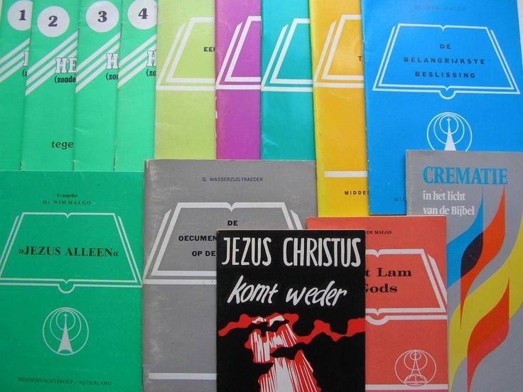 Dutch religious pamphlets14 evangelical booklets 1-4 in the Heiligmaking series 12 titles by Wim Malgo Jezus Christus Komt Weder by Dr Phil by TheIrishBarn on Etsy