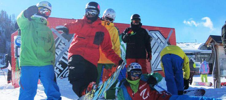 Treb freestyle snowboard Camp maestri atleti professionisti camps lezioni private per tutti i livelli negli snowpark di Livigno Chiesa Valmalenco Val Senales Gruppo