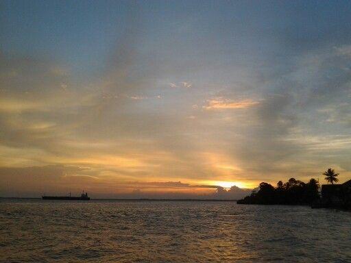 Beautiful sunset view from the corner of Balikpapan City