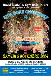 #GymBoxeChallenge 4 Fullcontact Championnat de France #WakoPro 2004 Bruce Codron vs #AbdelaKHamouche Mazan Vaucluse