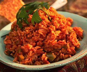 Savanna Red Rice (smoked sausage and hot sauce makes this dish soooo yummy!)