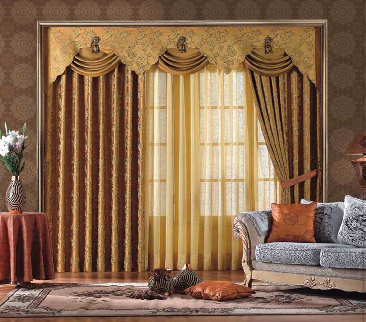 exterior fantastic large window curtain design interior with gold drapes pattern and nice wallpaper