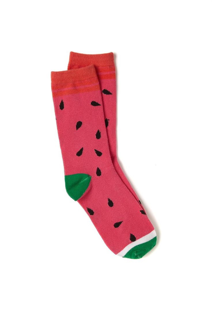 Our fun printed socks are available in various prints and colours! <br> One size fits most. <br> Made from a cotton polyester blend. <br/>