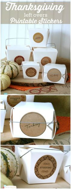 Thanksgiving Left Overs Printable Labels | Create a left over station with free printable labels. Send your guests home in style. Click the photo for your free labels. http://TodaysCreativeLife.com