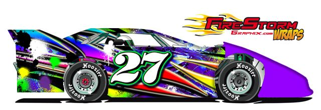 Universal Car Pinstripe Racing Side Graphics Decals  X - Race car decals