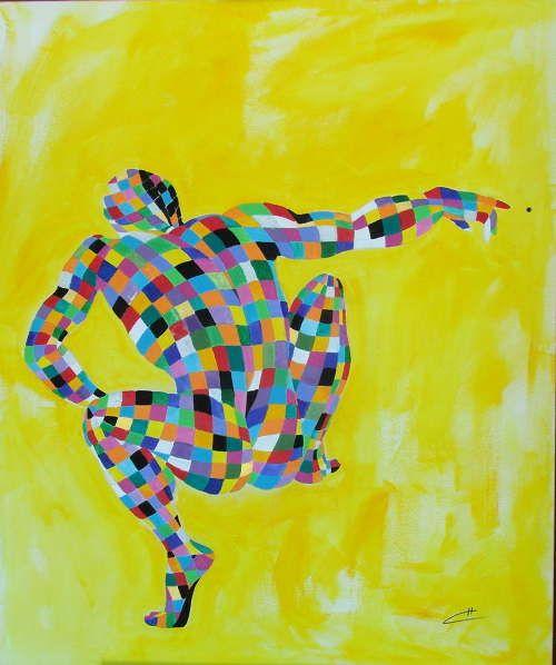 """""""Il Gioco della vita"""" acrylics on canvas W100 x H120  cm .wwwchiccasavino.com"""