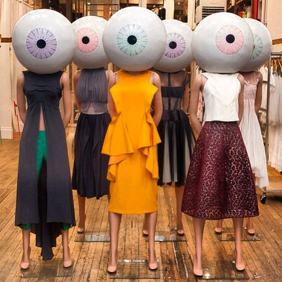 I don't usually like flesh colored mannequins, but seems with oversized eyeballs for heads, I'm good with it.