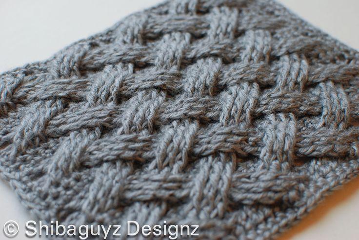 WOVEN CABLES CROCHET BLOCK - Shibaguyz Designz