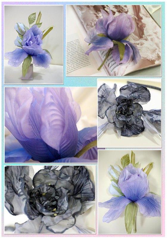 Цветы из шелка. Больше фото на www.detali-71.ru