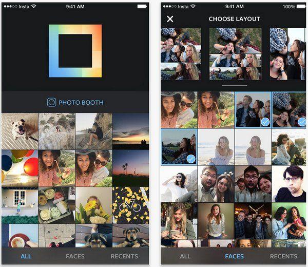 Instagram lanza app móvil Layout, para crear collages con las imágenes del terminal