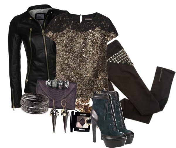"""Edgy Rocker Style"" by jay-to-the-kay ❤ liked on Polyvore"