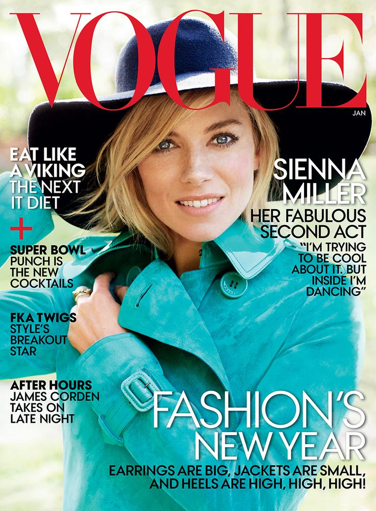 Sienna Miller dazzles on the cover of Vogue shot by Mario Testino