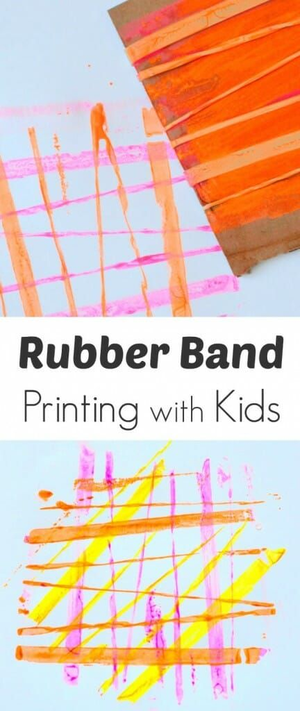 Rubber Band Printing with Kids