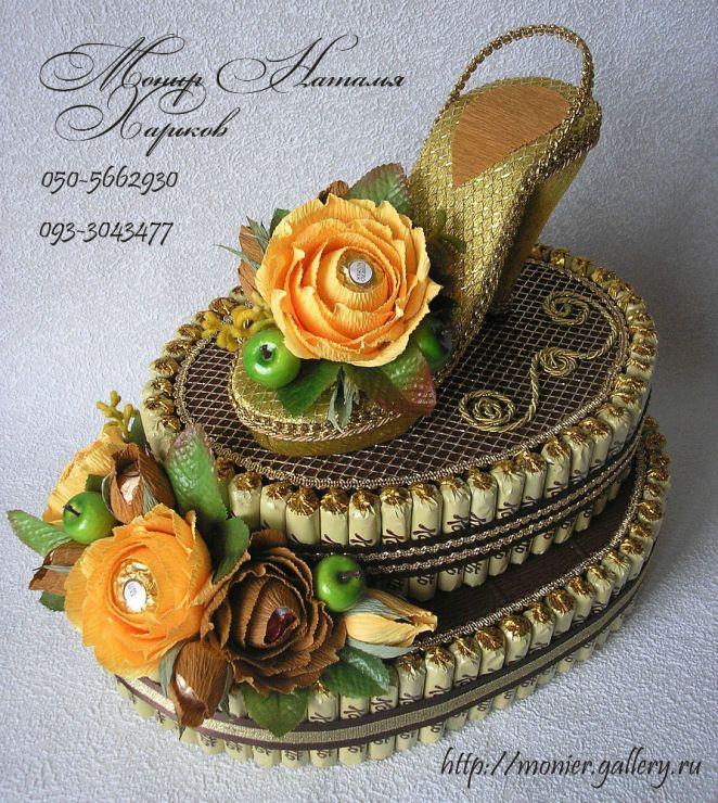 Gallery.ru / Фото #85 - Тортики из конфет - monier