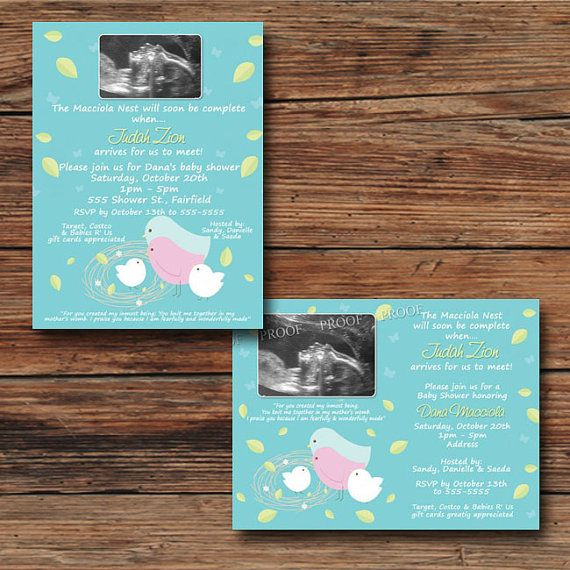 7 best tweet bird birdie baby shower invitations images on pinterest nesting birds baby boy shower invitations thank you cards ultrasound sonogram photo by poshprintphotography stopboris Choice Image