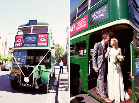 Green Wedding Bus