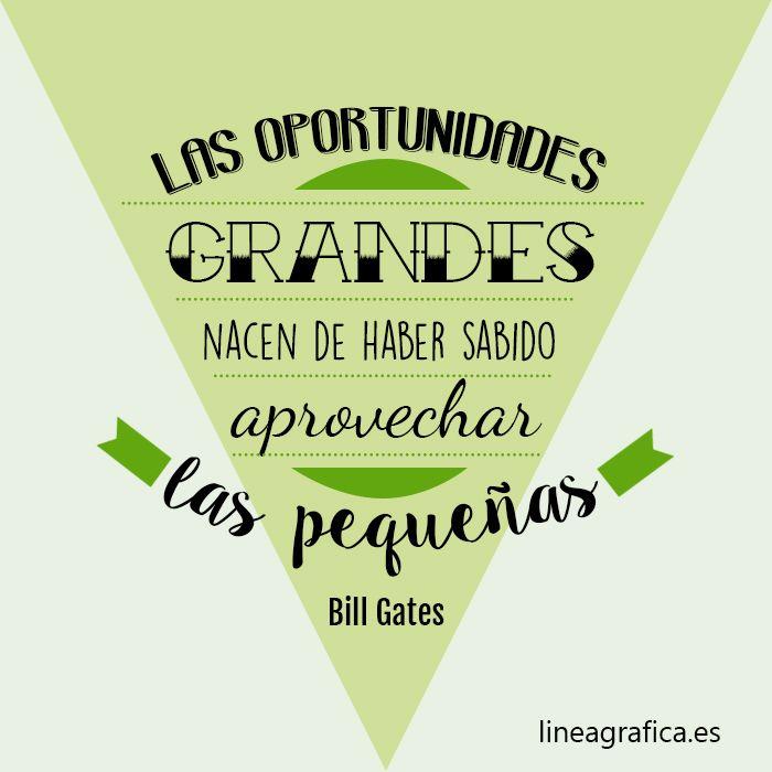 Frases ecommerce. Motivación e inspiración. Bill Gates