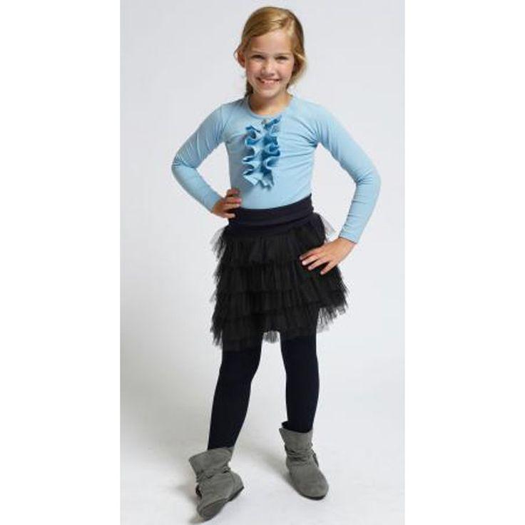 Silke Shirt Licht Blauw bij Minimoda. #Meisjeskleding #Meisjes #Kinderkleding