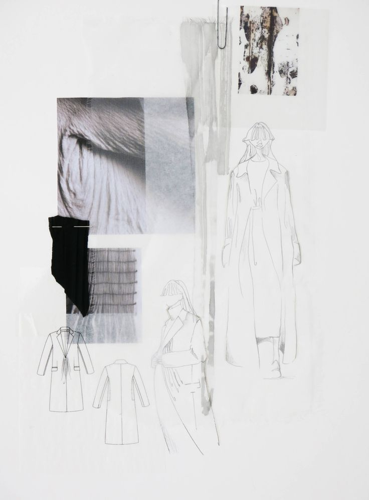Fashion Sketchbook page - fashion sketches & design research; fashion portfolio // Dani Hermann