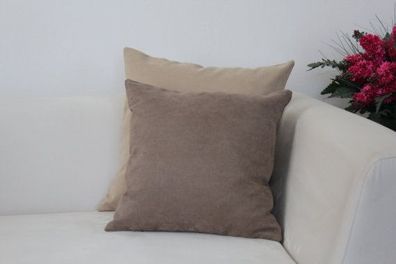 Set of 3, Decorative Brown and Biscuit Pillow Cover Set, Living Room, Bedroom on Etsy, $38.00