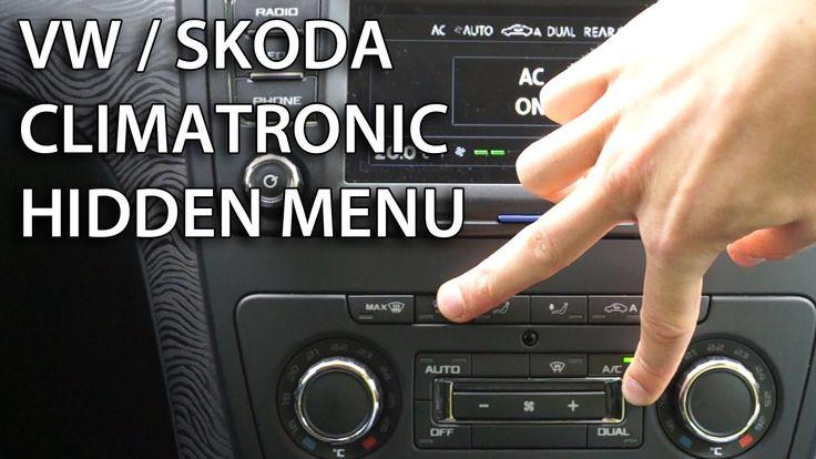 How to enter hidden menu in Climatronic VW #Škoda (#Golf #Touran #Yeti #Superb #Octavia) #cars #maintenance #service