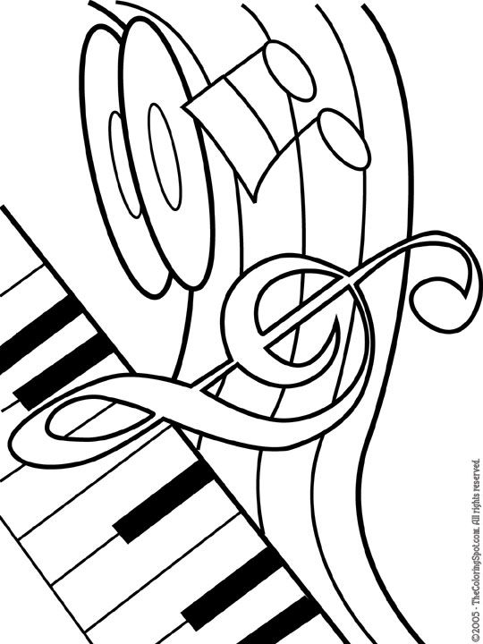 musical theme printable coloring pages for kids
