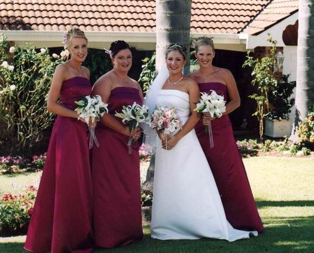 Dark Pink Bridesmaids gowns Gowns of Elegance and Grace. www.gownsofeleganceandgrace.com.au