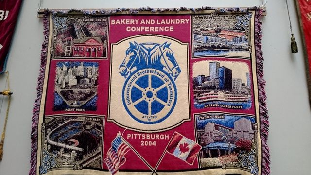 A Teamsters rug banner form 2004: Bakery and Laundry, Pittsburgh
