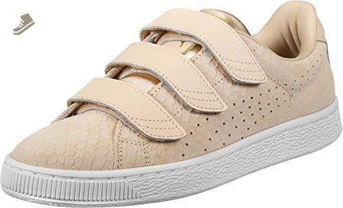 Puma Basket Strap Exoticskin Womens Trainers Natural - 7.5 UK - Puma sneakers for women (*Amazon Partner-Link)