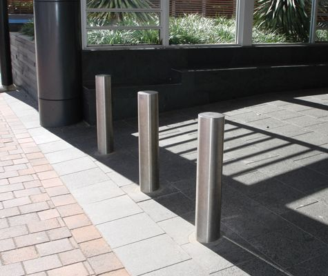 Vogue Stainless steel bollards. ATM models also are similiar