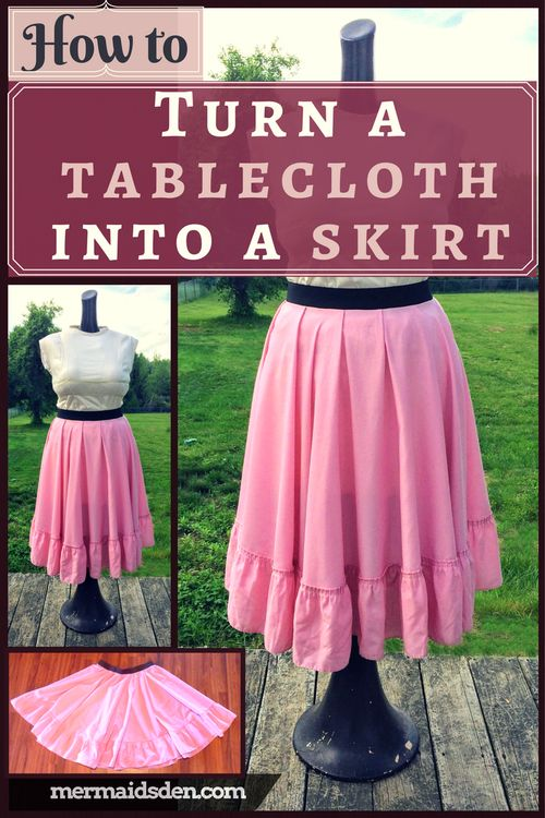 How to Turn a Vintage Tablecloth into a Circle Skirt: Free Sewing Tutorial