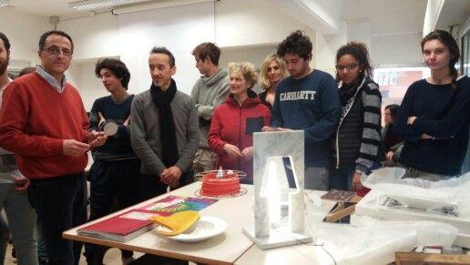 Il designer Paolo Ulian incontra le classi 4C e 5C al Liceo artistico Stagi di Pietrasanta, 9 marzo 2016.