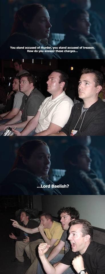 Fan reaction to Littlefinger's trial, Game of Thrones.