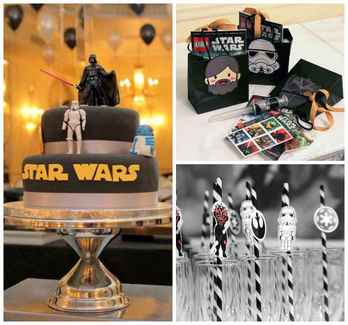 Star Wars themed birthday party via Kara's Party Ideas
