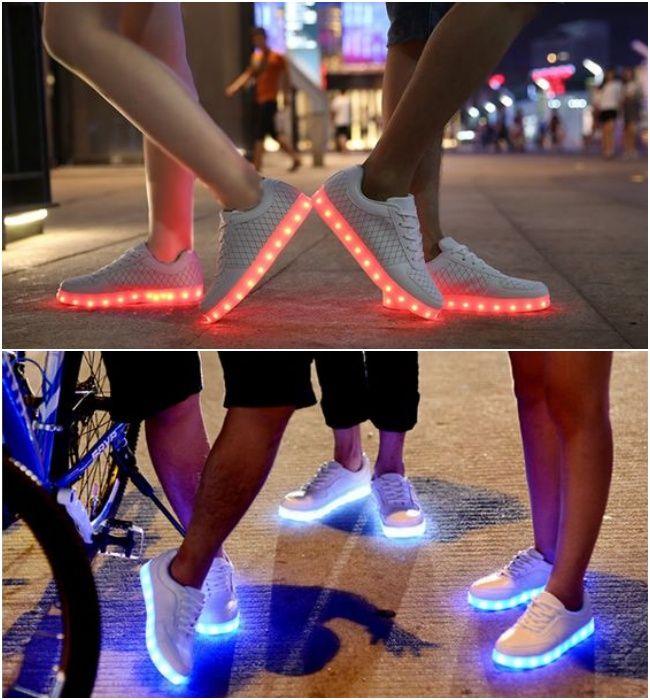 Foi assim… num desfile durante a NYFW eu vi uma pessoa usando um tênis de luzinha. Achei ok, é semana de moda, o povo pira no fashionismo, ok. Depois, por coincidência, meu irmão, que mora no Japão, postou a foto de um amigo dele usando um tênis desses. Pensei: ¨Ok, é Japão, o povo é …