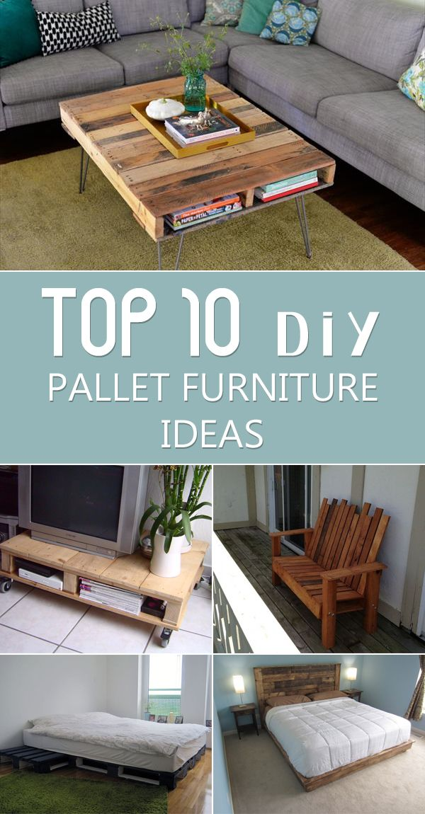 Clever ideas on how to create uniquely original furniture out of wooden pallets.