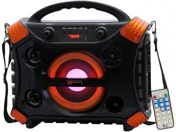 Caixa de Som Lenoxx CA 304 Ativa Bluetooth USB - Compatível com MP3 Micro SD Auxiliar e Microfone