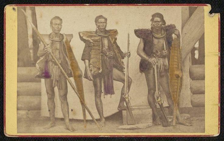 Krijgers van Nias, Indonesië (1867)