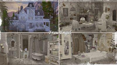 The Sims 4 Mody: Domek Shabby Rose od Frau Engel