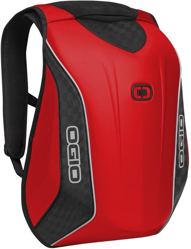 The OGIO No Drag Mach 5 Molded Motorcycle Backpack isn't just any backpack. This bag has a streamlined single shot molded exterior that is nearly waterproof and will not deform from wind shear. | #motorcycle #ogio #backpacks #gift