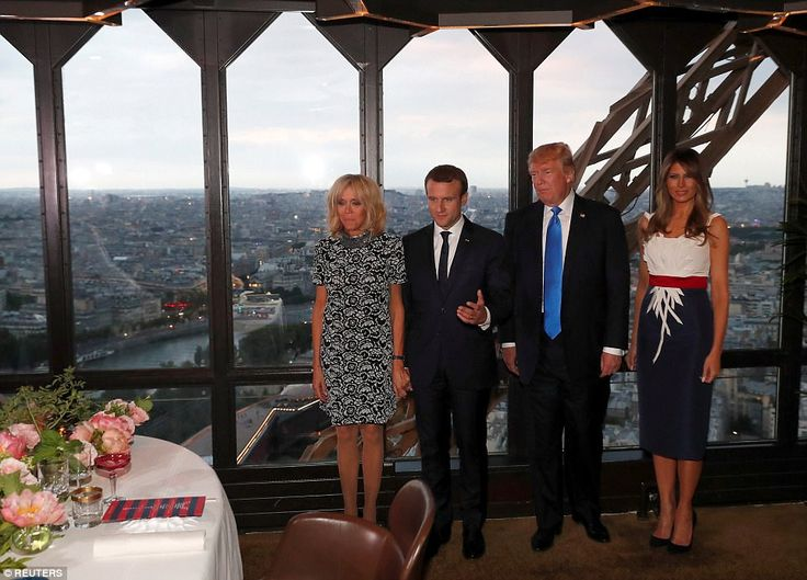 President Donald Trump took his wife out on the town Thursday evening in Paris, making the...