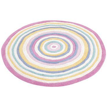 Extra Large Pink Circular Striped Rug Jojo Maman Bebe