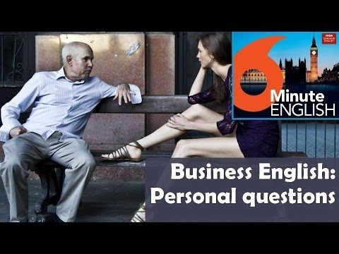 BBC 6 Minute Business English transcript video - Asking personal questions: Join Feifei and Neil as they role-play a business conversation which involves asking some personal questions, and pick up some useful phrases and cultural tips along the way.