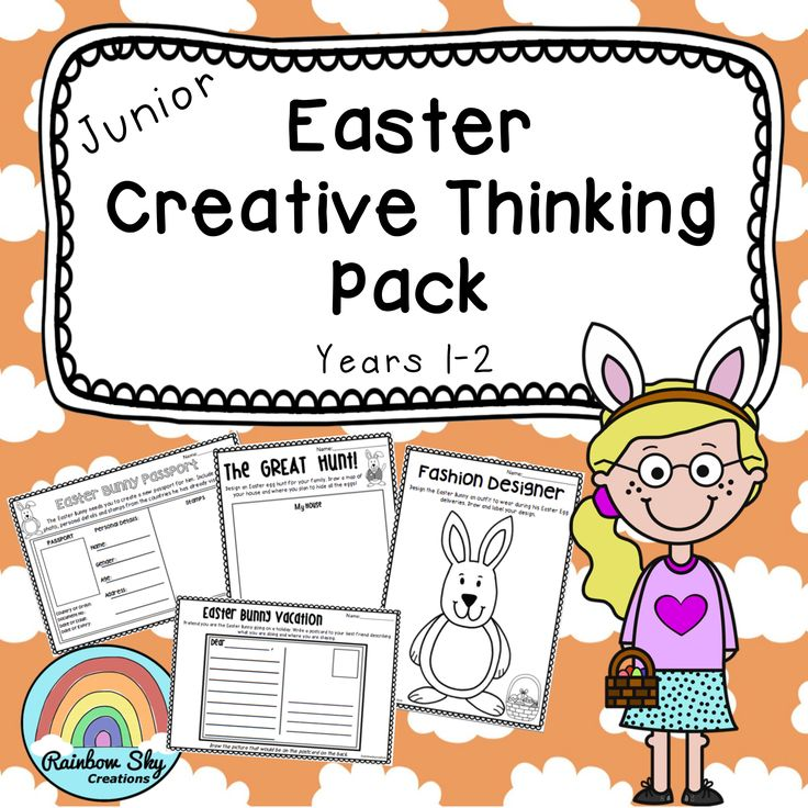 Easter Creative Thinking Pack - Years 1 and 2. 13 innovative tasks that will get your students thinking imaginatively and creatively leading up to Easter. ~ Rainbow Sky Creations